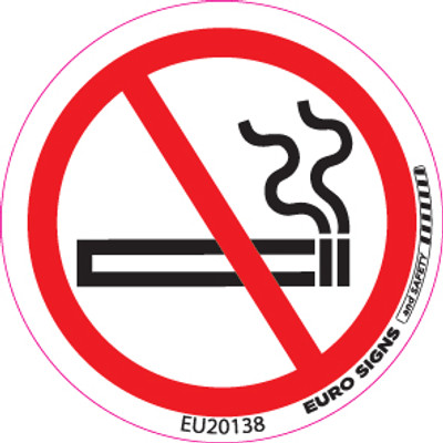 NO SMOKING 50MM DIA DECAL