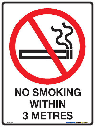 NO SMOKING WITHIN 3 METRES 225x300 MTL
