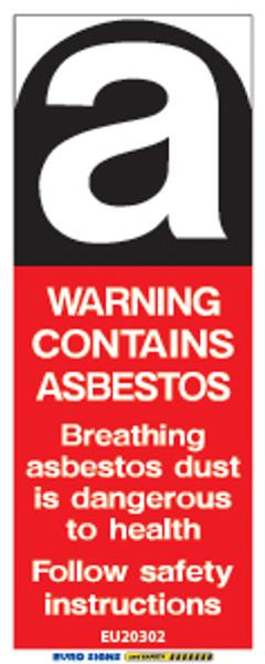 WARNING ASBESTOS - 20x50 - DECAL