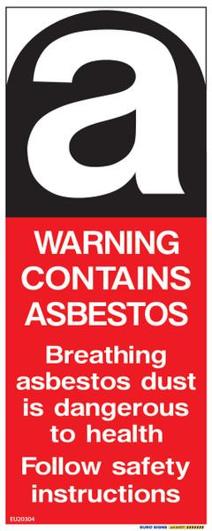 WARNING ASBESTOS - 100x250 - DECAL