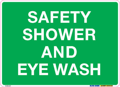 SAFETY SHOWER AND EYE WASH 250x180 DECAL