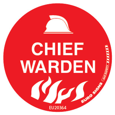 CHIEF WARDEN 50MM DECAL