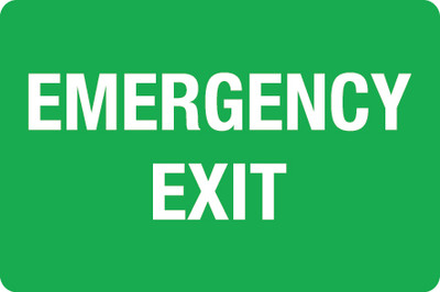 EMERGENCY EXIT 75x50 DECAL