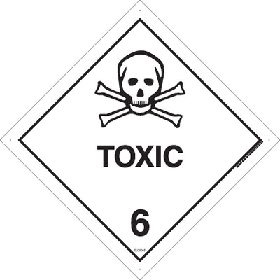 Class Label TOXIC 6 100x100 DECAL