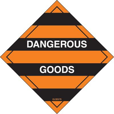 Class Label DANGEROUS GOODS 100x100 DECAL