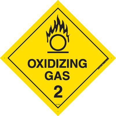 Class Label OXIDIZING GAS 2 100x100 DECAL