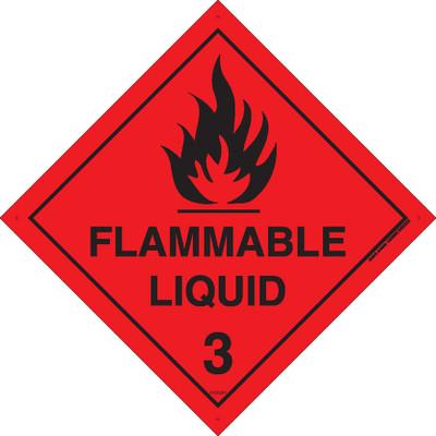 Class Label FLAMMABLE LIQUID 3 150x150 DECAL