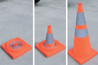 Collapsible cone 450mm - plastic base