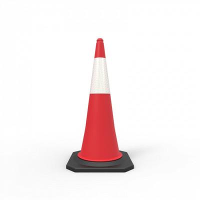 Reflective traffic cone 1000mm – Hi-Vis Dark Orange