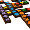 Qwirkle, strategic game that can be played by people with different abilities. Great for those with loss of memory.