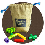 Plumbing Pipes with hessian bag. Great activity for a person with memory loss, dementia or brain injury.