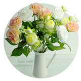 Beautiful roses flower arrangement is a lovely gift for someone with memory loss or dementia