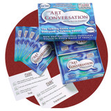 The Art of Conversation Cards for starting conversation. Great for people with memory loss such as Alzheimers or other dementia or brain injury