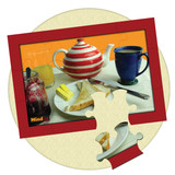 12 piece Jigsaw puzzle image Tea and Toast. Great gift for someone with dementia or memory loss