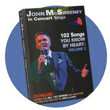 102 Songs you Know by Heart DVD with words on screen. Great memories, sing along, fun music great for those with dementia or memory loss