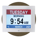 Dementia day clock great for all, especially sight impaired or with memory loss