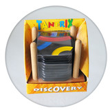 Tantrix Discovery puzzle game in wooden stand
