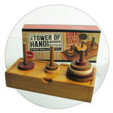Tower of Hanoi wooden strategy puzzle