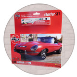 Airfix model making starter set of a Jaguar E-type