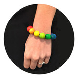 A beautiful colourful wooden bracelet
