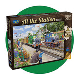 500 piece puzzle with extra large pieces - At the Station - Horsted Keynes in the Bluebell Railway