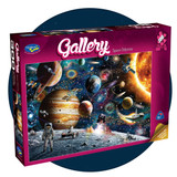 300 piece jigsaw puzzle set in space