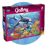 300 piece jigsaw puzzle of underwater scene featuring Orcas