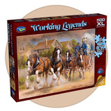 500 piece puzzle with extra large pieces - Working Legends, Firestorm Four