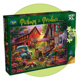 500 extra large piece puzzle full of animals and fruit and vegetables