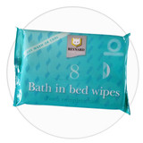 Bath in Bed Wipes for waterless cleansing of face and body