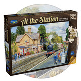 500 piece puzzle with extra large pieces - At the Station