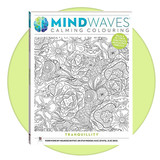 Mindwaves Calming Colouring book for adults: Tranquillity