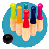Skittles bowling game, great fun indoors or out