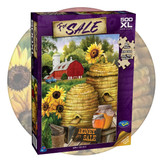 500 extra large piece puzzle featuring sunflowers and honey