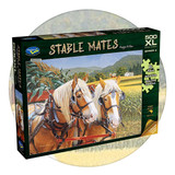 500 extra large piece puzzle featuring horses in a cornfield