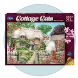 Cottage Cats - Master of All He Surveys  - 500 XL piece jigsaw puzzle