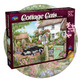 Cottage Cats - The Gate Keeper  - 500 XL piece jigsaw puzzle