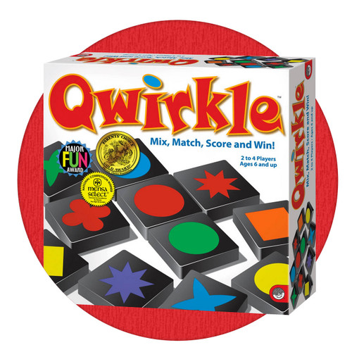 Qwirkle, fun family game. Great for people living with dementia, brain injury or loss of memory.