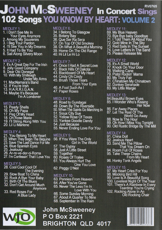 102 Songs You Know By Heart Dvd Volume 2