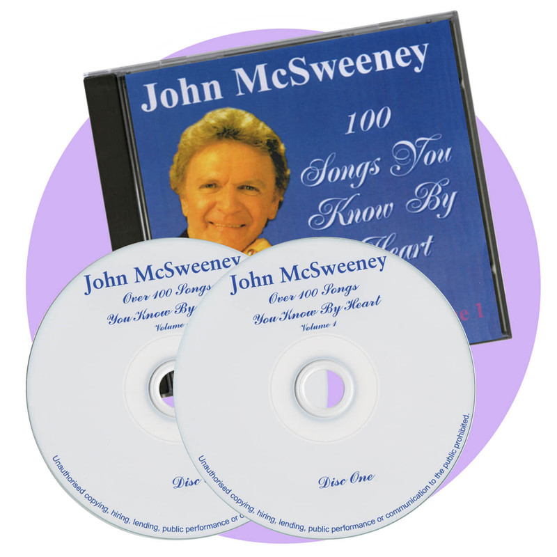 John McSweeney double CD - fun sing along songs from the 1930s,40s and 50s
