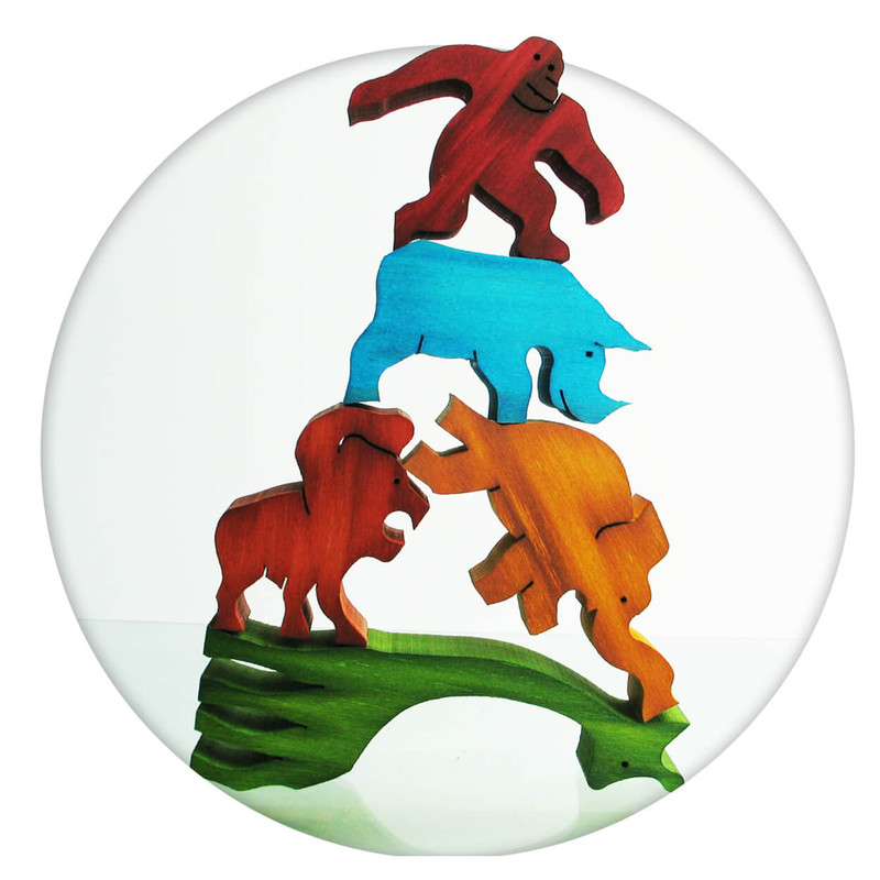 Unique New Zealand wooden puzzle balancing game