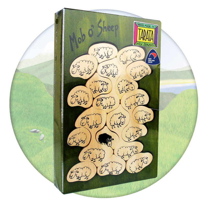 Mob 'O Sheep, New Zealand wooden jigsaw puzzle