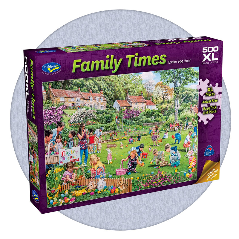 500 piece puzzle with extra large pieces - Easter Egg Hunt
