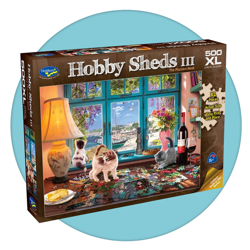 500 piece jigsaw puzzle with extra large pieces - Puzzlers Nook