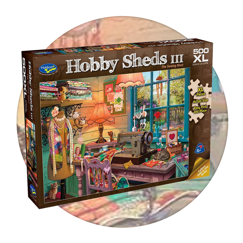 500 piece jigsaw puzzle with extra large pieces - The Sewing Shed