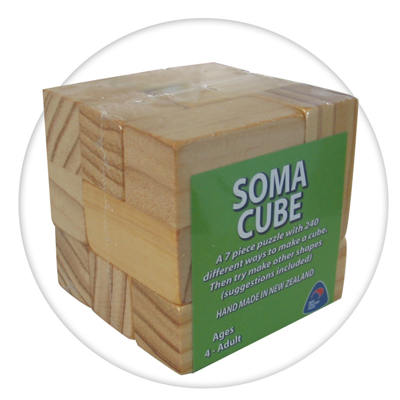 Soma wooden puzzle cube handmade in New Zealand