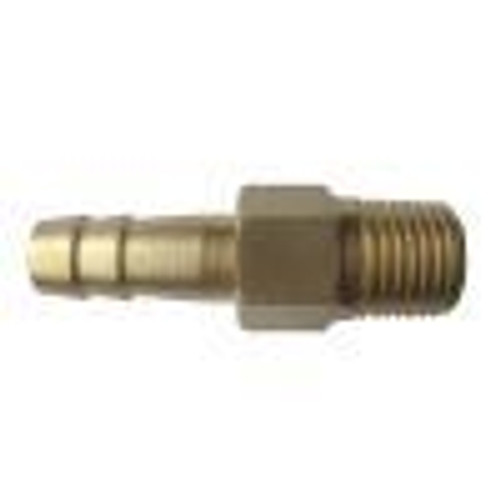 "Vpump Hose Barb fitting, 1/2"" NPT  thread, 10mm Barb"