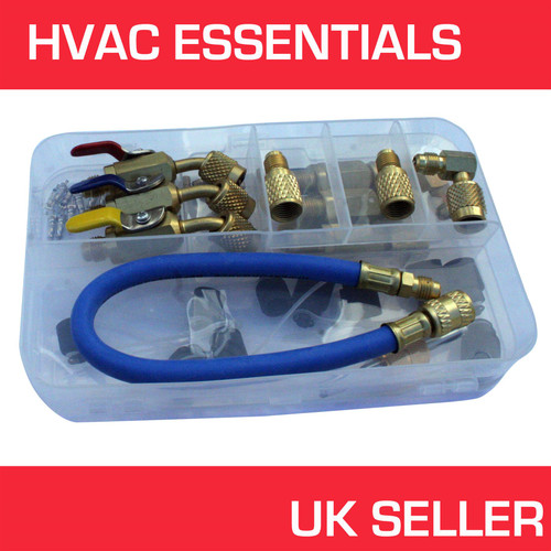 HVAC Essentials Hose Adaptor Kit, R410a, R22 refrigerant, freon Hoses
