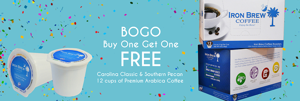 BOGO Sale on Premium Arabica Single Serve Coffee Cups