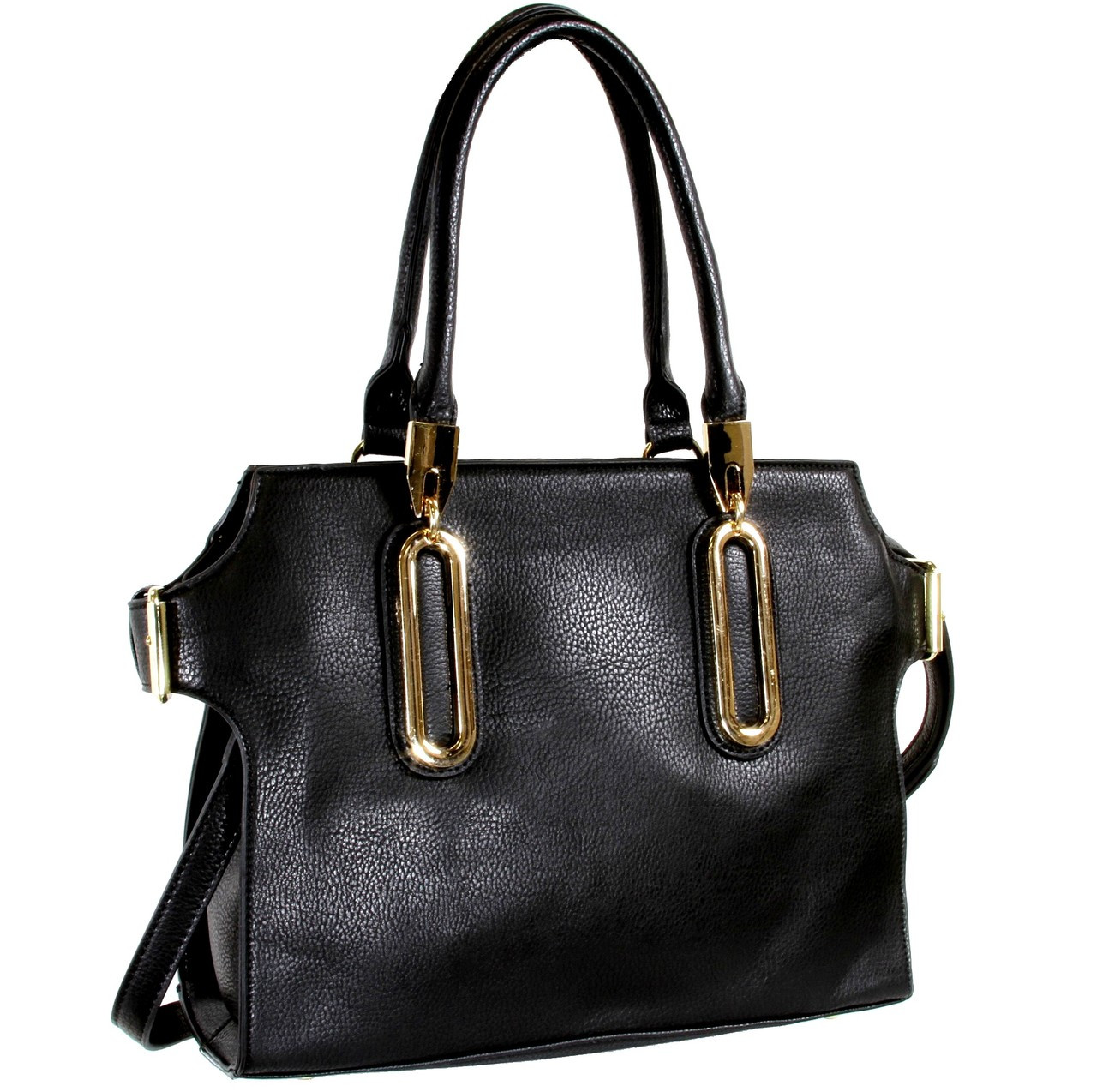 5b7346435806 Alyssa Elegant Designer Inspired Faux Leather Tote Shoulder Bag ...